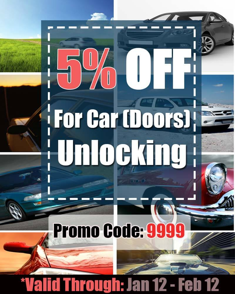 5 percent discount for car (doors) unlocking services